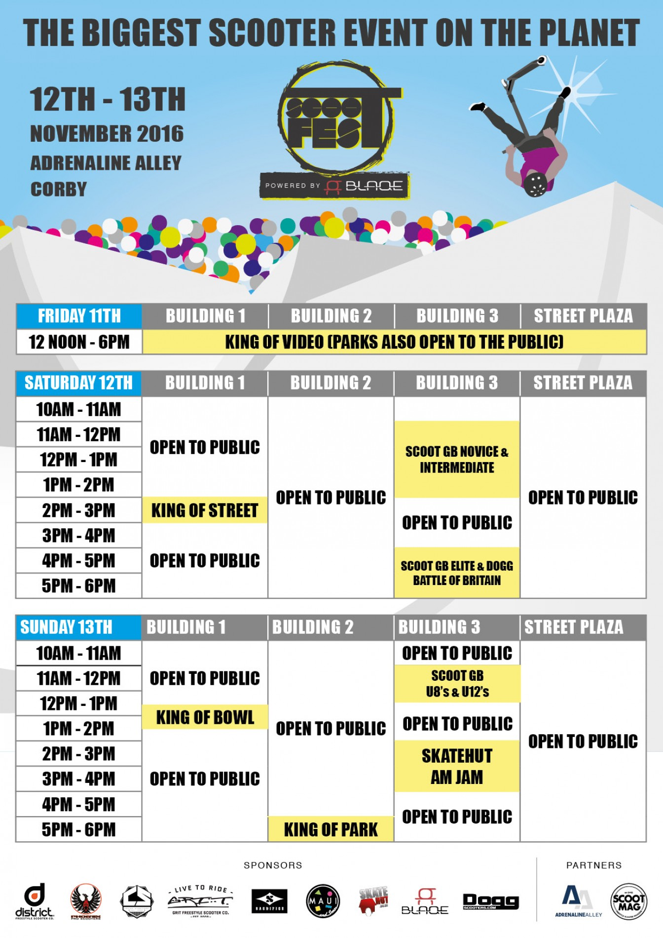 Scootfest Weekend Schedule