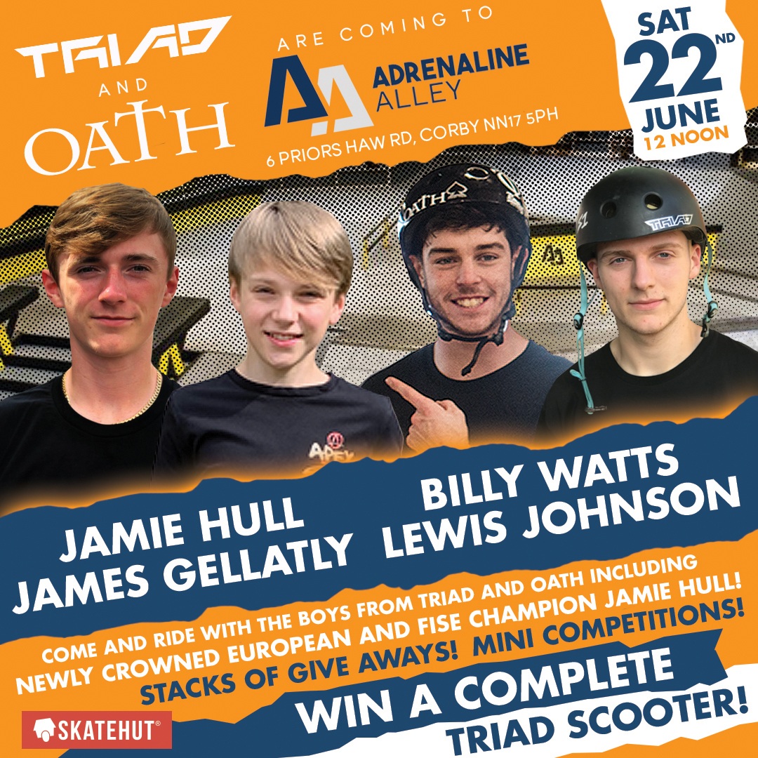 TRIAD & OATH ARE COMING TO ADRENALINE ALLEY!