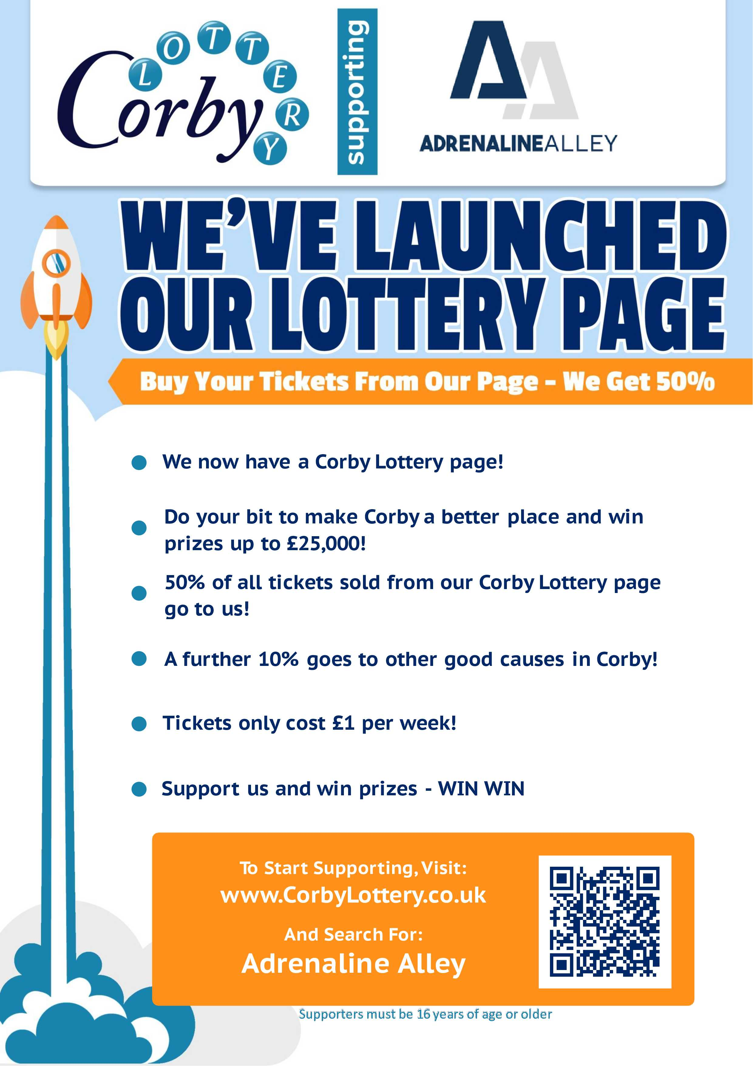 We've Launched Our Corby Lottery Page