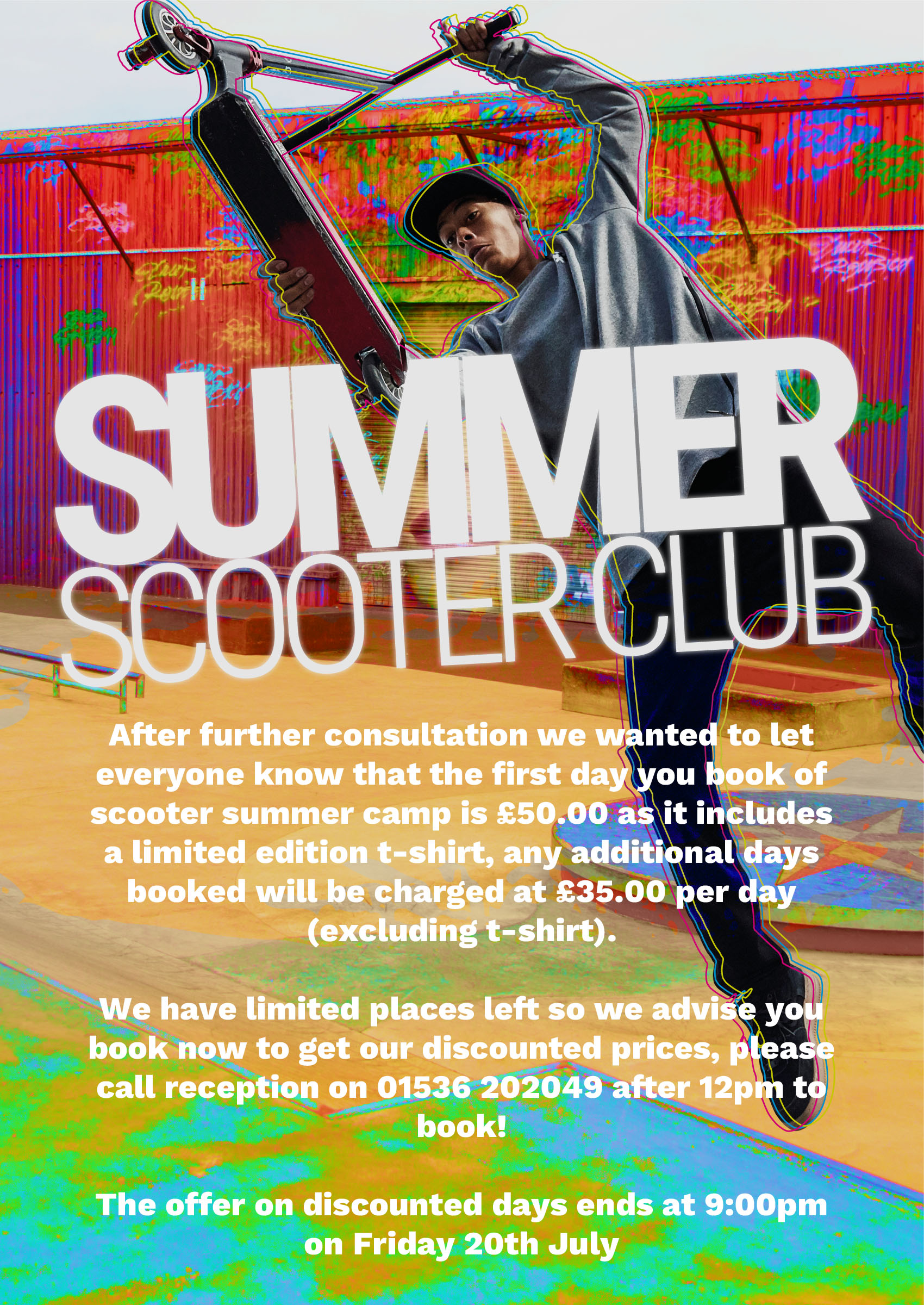 Discounted Scooter Camp price - Book Quickly!